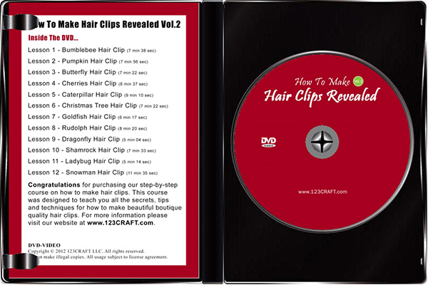 Hair Clips DVD inside view