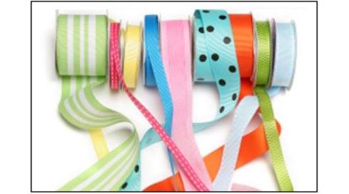 Severl spools of various hair bow ribbon