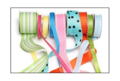 Severl spools of various hair bow ribbon