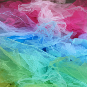 Red, Blue and Green Tulle