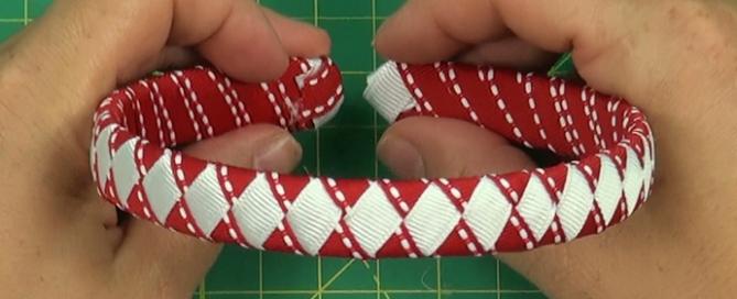 Red and White Woven Headband